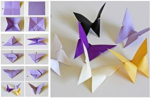 4 Make Paper Butterflies At Home